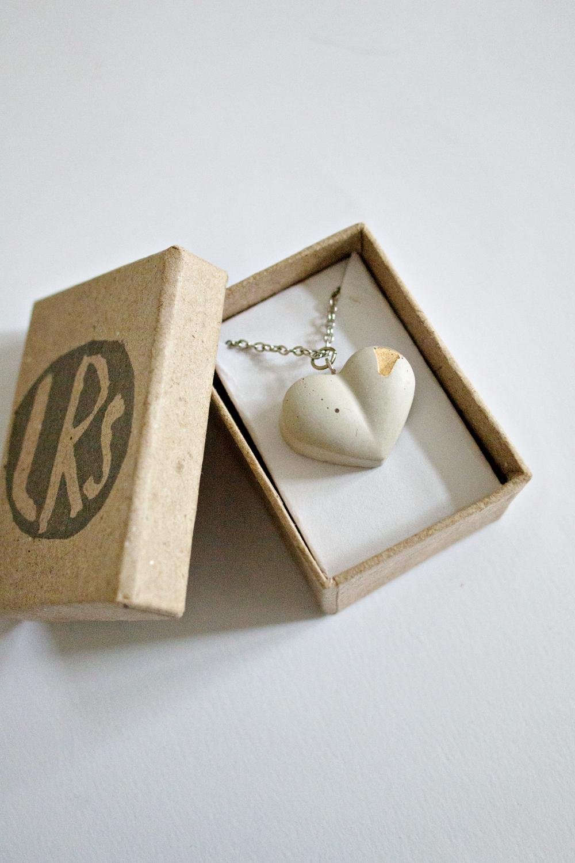 Concrete Heart Necklace
