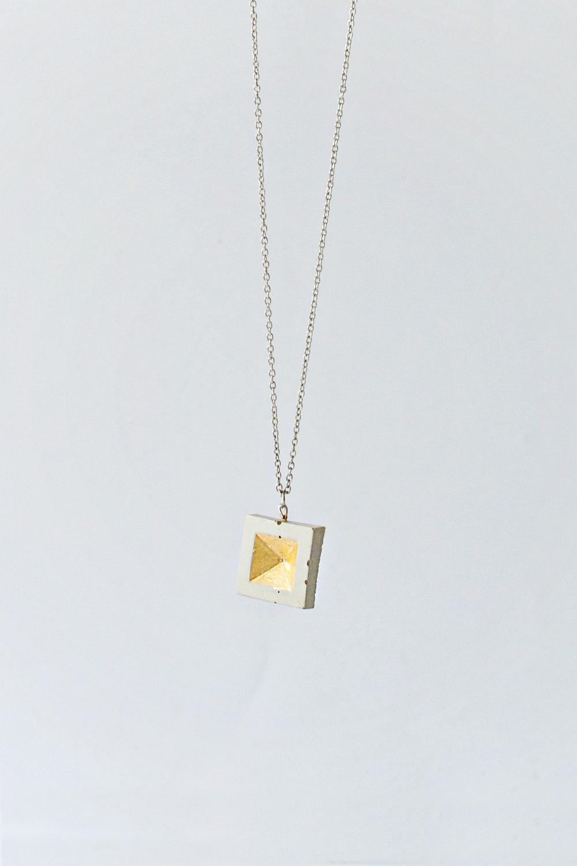 Concrete Square Necklace