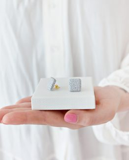 Granite Square Stud Earrings