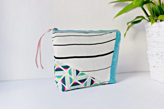 Geometric Zipper Pouch