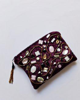 Velvet Zipper Pouch