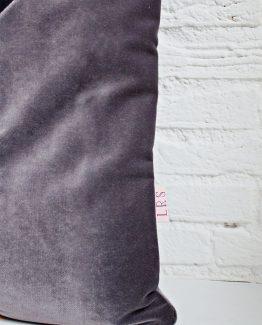 HANDMADE CUSHION COVER - Mustard, Grey & Black