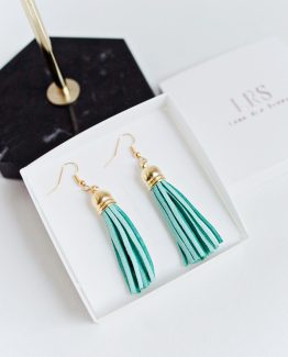 Tassel Earrings - Aqua