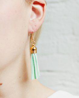 Tassel Earrings - Mint