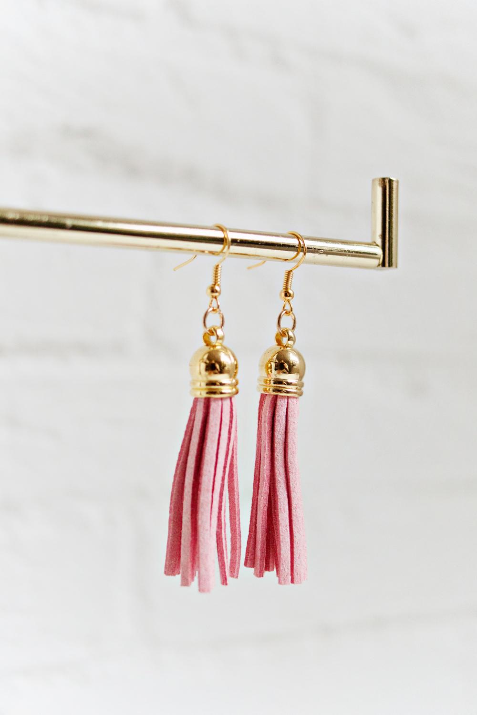 Tassel Earrings - Soft Pink