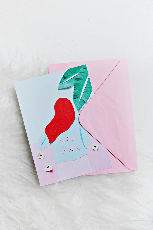 Art Card Greeting Card Grl Pwr Shop