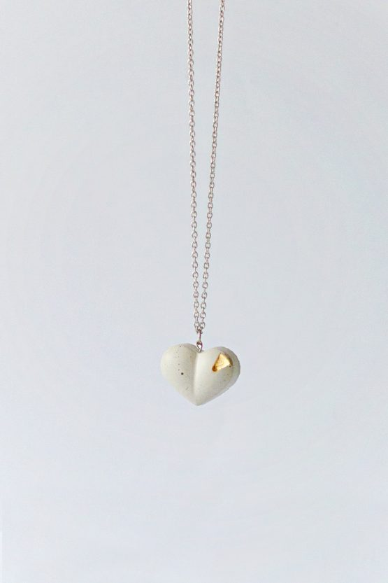 Concrete Heart Necklace