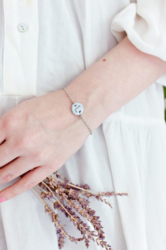Granite Initial Bracelet