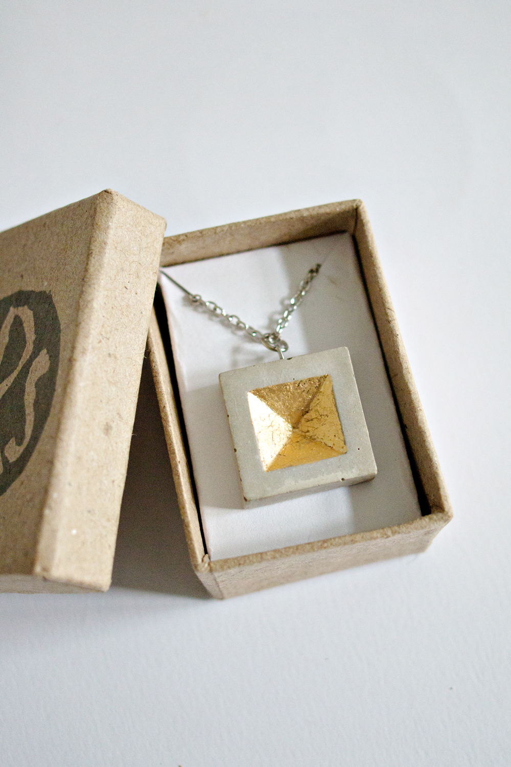 Concrete Square Necklace