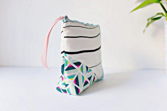 Geometric Zipper Pouch