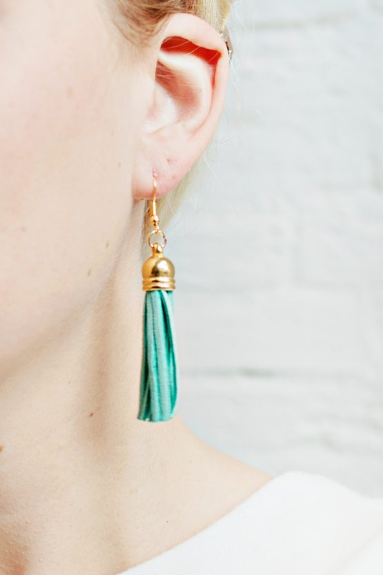 Tassel Earrings - Aqua