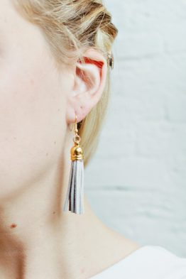 Tassel Earrings - Light Grey 3