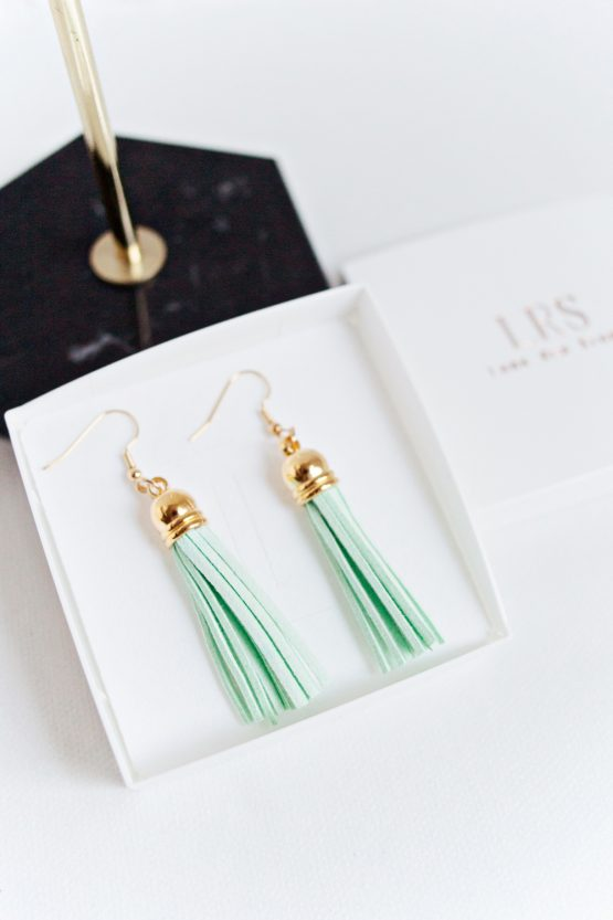 Tassel Earrings - Mint