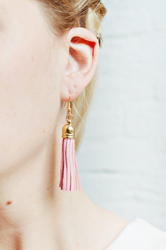 Tassel Earrings - Soft Pink