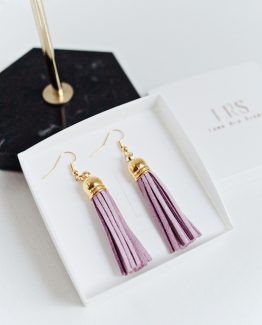 Tassel Earrings - Violet