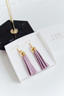 Tassel Earrings - Violet