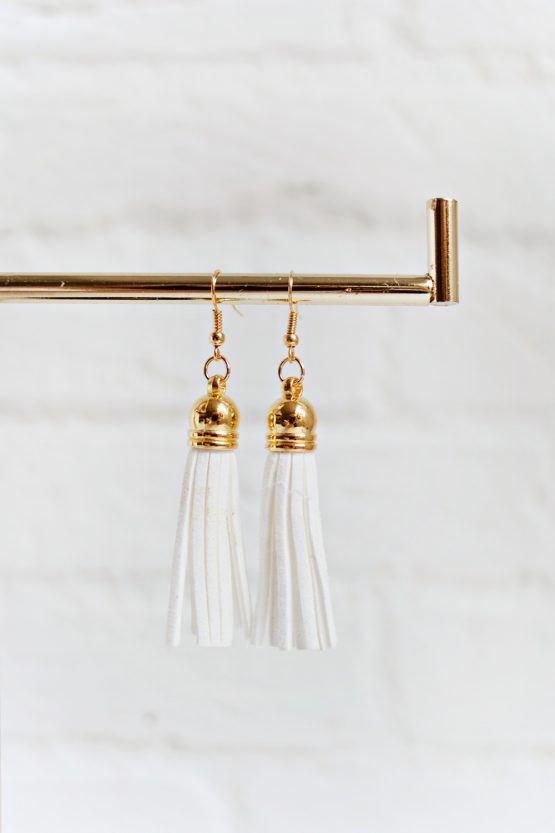 Tassel Earrings - White