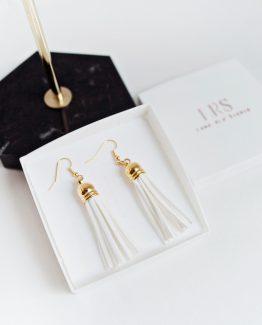 Tassel Earrings - White