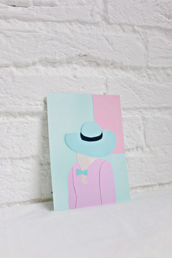 Art Card - Greeting Card Back Portrait