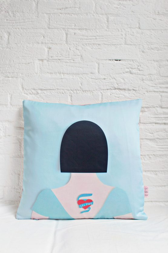 Handmade Pillow Cover - GRL PWR Tattoo