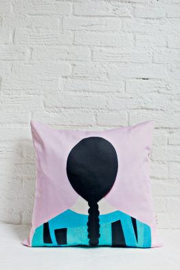 Handmade Pillow Cover - GRL PWR Braid