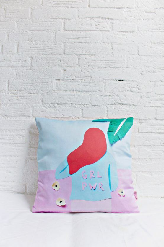 Handmade Pillow Cover - GRL PWR