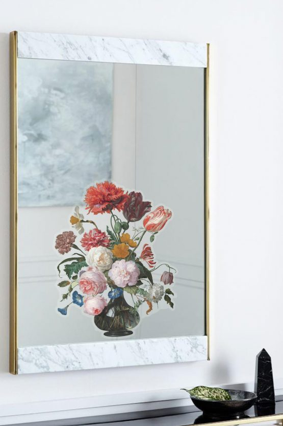 Removable Window Decal - Painted Flowers in Vase