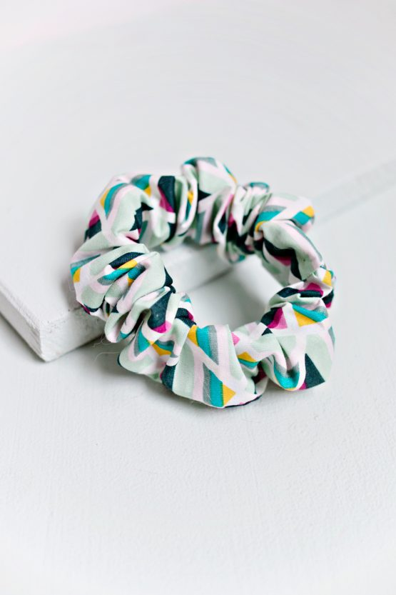 Hair Scrunchie - Geometric